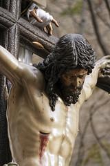 cristo de la hermandad de la Trinidad en la semana santa de Sevilla