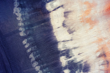 Colorful tie dye textile pattern on clothes,DIY.