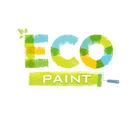 Eco Paint Grunge Brush Creative Rough Vector Concept