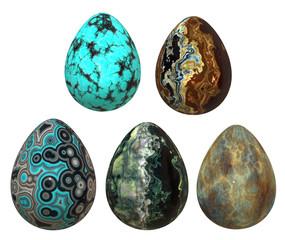 Set of   stone eggs