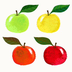 Vector illustration of apple fruits