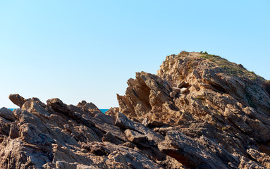 Rocky coast of Cartagena. Murcia. Spain