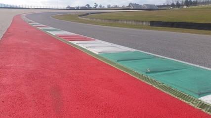 Foto op Aluminium F1 Curva in pista