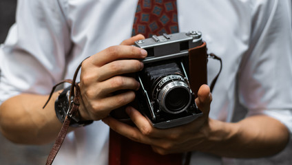 Retro photographer
