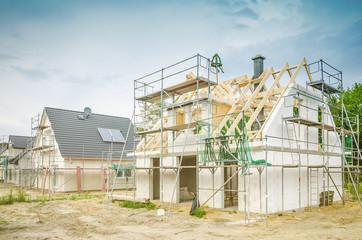 Baustelle - Eigenheim Richtfest