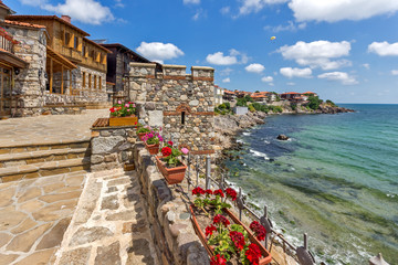 Amazing panorama with Ancient fortifications in old town of Sozopol, Burgas Region, Bulgaria Wall mural