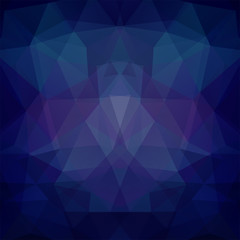 Background made of dark blue triangles. Square composition with geometric shapes. Eps 10