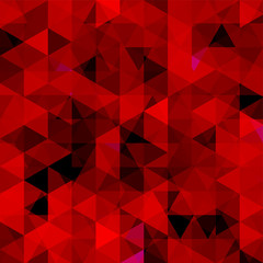 Background of geometric shapes. Abstract triangle geometrical background. Mosaic pattern. Vector EPS 10. Vector illustration. Red, black colors.