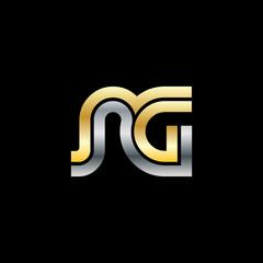 Initial Letter NG RG Linked Design Logo