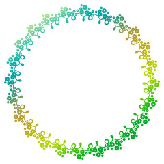 Beautiful round gradient frame. Raster clip art.