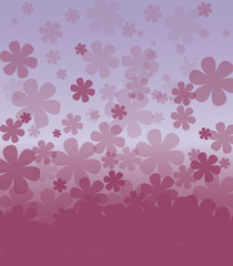 vector background with colored flowers