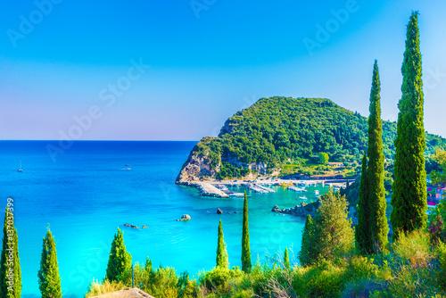 Wall mural Beautiful landscape in Palaiokastritsa. Corfu islands, Greece.