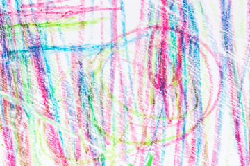 Abstract Colorful Crayons Scribble Grunge Background