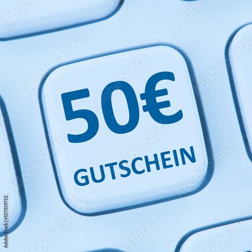 50 euro gutschein geschenk rabatt online shopping einkaufen inte immagini e fotografie royalty. Black Bedroom Furniture Sets. Home Design Ideas
