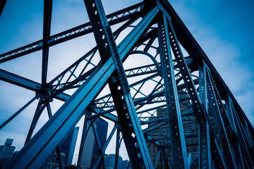 the Waibaidu bridge in Shanghai,China.