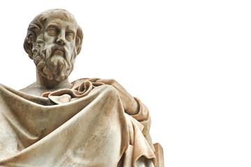 Aluminium Prints Historic monument Statue of Plato in Athens.