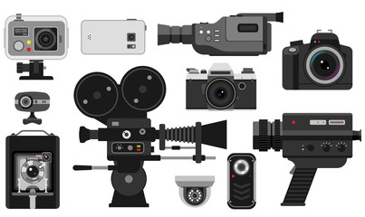 Photo and camera vector illustration.