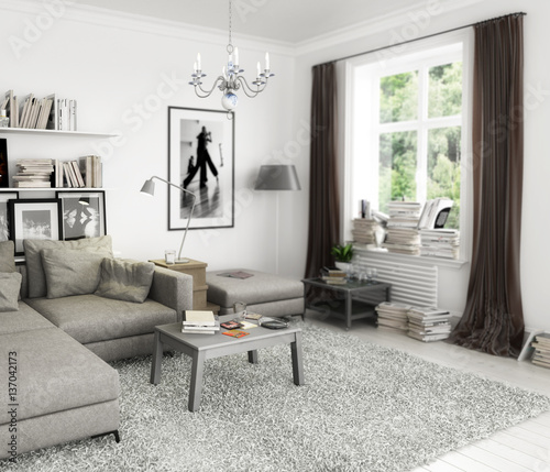 b cher im wohnzimmer einrichtung und dekoration stockfotos und lizenzfreie bilder auf fotolia. Black Bedroom Furniture Sets. Home Design Ideas