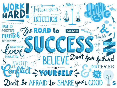 SUCCESS Hand Lettering Poster