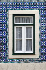 Typical portuguese window in Lisbon Portugal