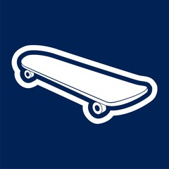 Graphics silhouette skateboard icon