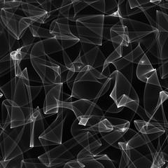 Black caustics light effects, abstract background, digital art illustration work.