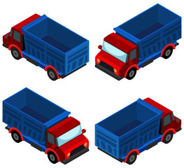 3D design for blue truck