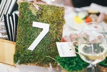 the number on table