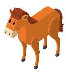 3D design for brown horse