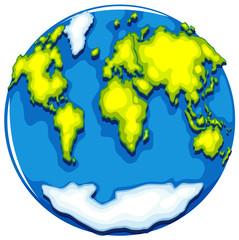 Worldmap on round format