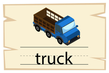 Flashcard design for word truck