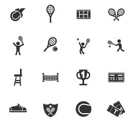 tennis icon set