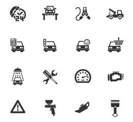 car service icon set