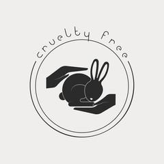 Animal cruelty free logo. Not tested on animals symbol