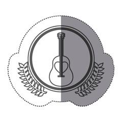 symbol guitar icon stock image, vector illustration