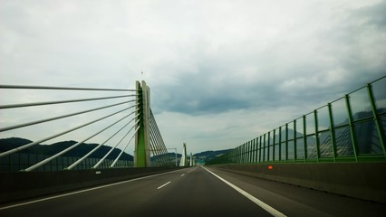 Bridge on a highway. Slovakia