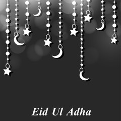 illustration of elements of Muslim Festival Eid Background