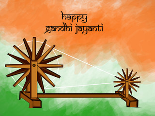 illustration of elements of Gandhi Jayanti background. Gandhi Jayanti is a national festival celebrated in India to mark the occasion of the birthday of Mohandas Karamchand Gandhi
