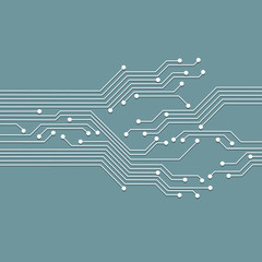 3d circuit abstract board background