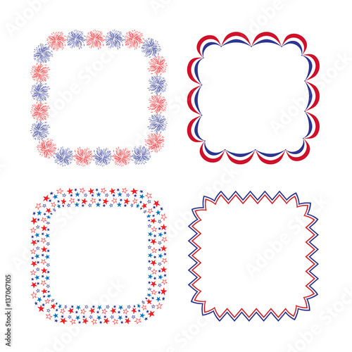 Red White Blue Square Frames Stock Photo And Royalty Free Images On