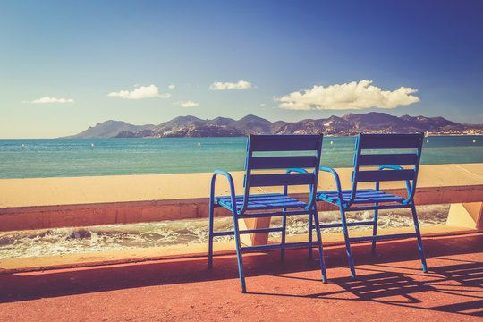Paysage de la Côte d Azur: Festival international du film - Cannes - la Croisette - Alpes-Maritimes