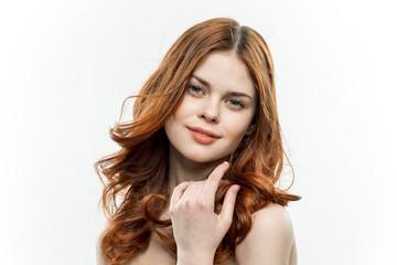 wavy hair, clean skin