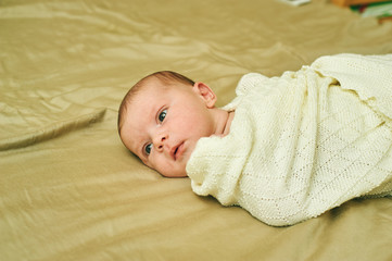 portrait of newborn girl