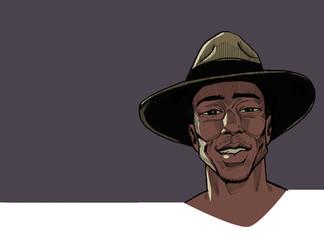 Vintage African Man Portrait