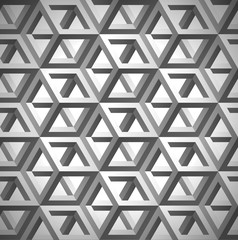 Volume graytexture, cubes, 3d geometric pattern grid, design vector background