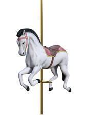 3D Rendering Carousel Horse on White
