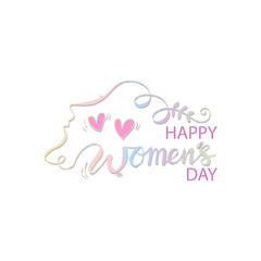 Happy Women's Day hand drawn lettering