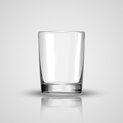 empty glass vector illustration