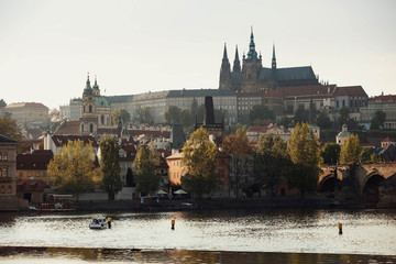 view of the river and beautiful buildings in the old town