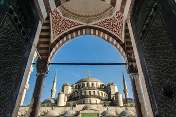 TURKEY, ISTANBUL - OCTOBER 19, 2015 Sultanahmet Mosque (Blue Mosque) in Istanbul